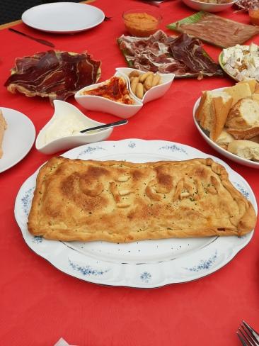 Empanada vegana con relleno de soja texturizada y hortalizas. Chusa Cuendias. Febrero 2020
